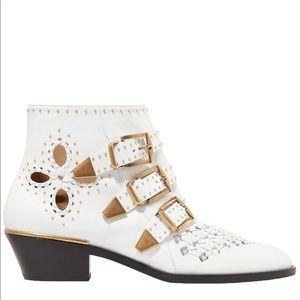 Chloe Susanna Cutout Ankle Boots